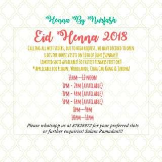 Eid Henna 2018 - Henna By Nurfash