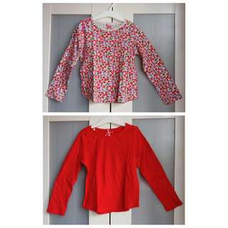 NEXT 4-5yrs long sleeved top (set of 2)