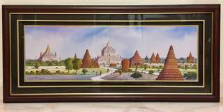 Bagan Painting with wooden frame