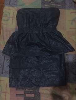 Blue tube party dress
