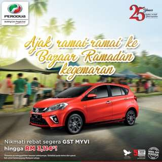 Perodua Now 0 GST save up to 3,572
