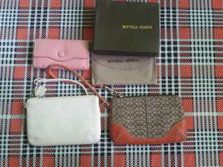 2 Authentic coach wristlet and key holder