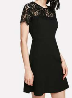 晚裝 lace 連身裙 黑色 grad din