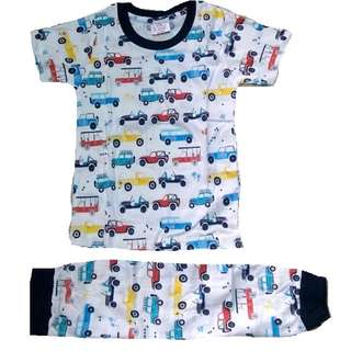 Cotton Pyjamas Boy Girl Set Vehicle