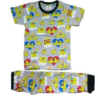 Cotton Pyjamas Set Boy Girl Couple Duck