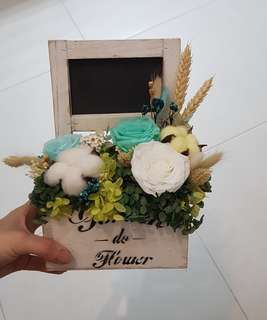 Presered Flowers in a box