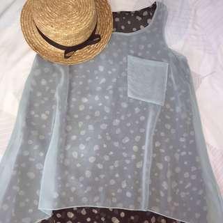 Two-layer sleeveless chiffon