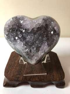 稀有黑白水晶愛心