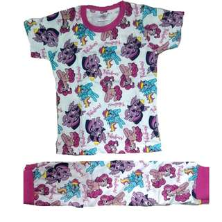 Cotton Pyjamas Girl Set Printed My Little Pony