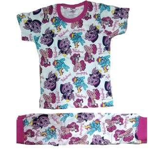 Cotton Pyjamas Girl Set Printed My Little Pony