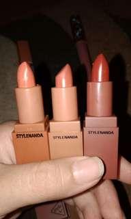 Lipstick 3ce, lipcream tarte&lipcream 3ce