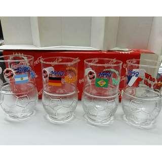 【迎接世界杯】可口可樂1998年經典水杯套裝 Coca-Cola Collections