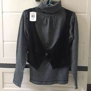 Stripes turtleneck sweater