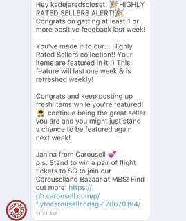 THANK YOU CAROUSELL! 💞