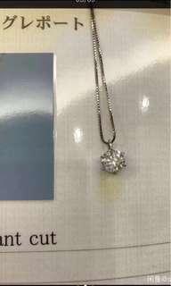 鑽石項鏈1.659克拉日本大證書