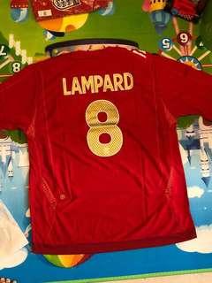 英格蘭國家隊絕版波衫 8號 Lampard xxL