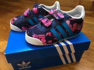 (Price Reduced!) Adidas Limited Edition Toddler Sneaker (Dragon Floral CF)