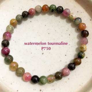 watermelon tourmaline bracelet