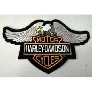 Bordir Eagle Patch Harley Logo.18x28.5