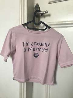 Colourbox pink mermaid croptop
