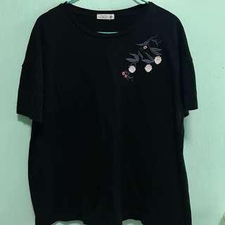 Cute black floral tshirt