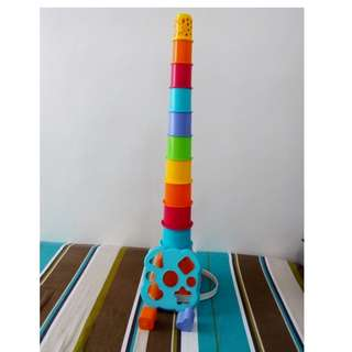 Giraffe Stacking toy with shapes
