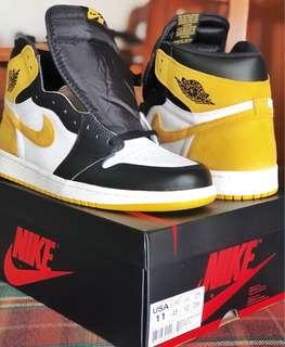 "Rush Sale til Vesak day! Nike Air Jordan 1 ""Best Hand in the Game"" Yellow Ochre"