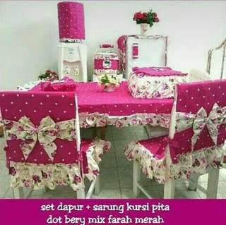 Homeset cover set meja makan