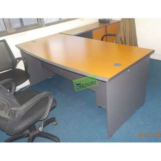 L TYPE OFFICE TABLE W MOBILE PEDESTAL CABINET & SIDE CABINET
