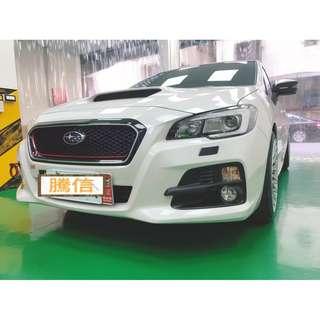 【騰信車體包膜】Subaru Levorg水箱護罩三色線裝飾
