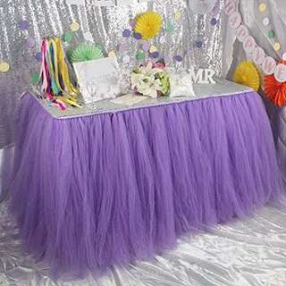 [Rent] Purple tutu table skirt