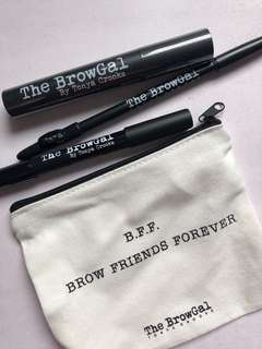 The brow gal eyebrow kit with pouch