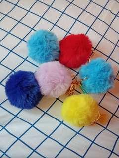 Fur Ball Key Chain