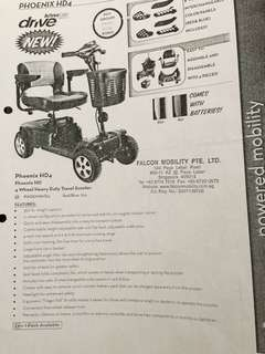 4 Wheel Heavy Duty Travel Scooter