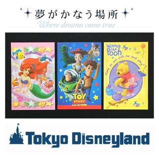Tokyo Disneyland Money Packets (Set of 3)