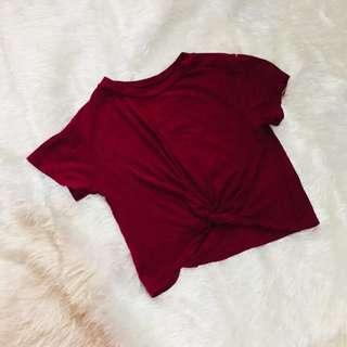 Maroon Crop Top