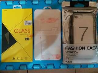 🚚 全新iphone7 鋼化膜+保護套