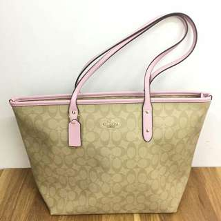 COACH CITY TOTE  LIGHT PINK  COLOR