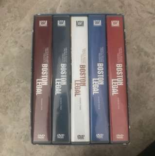 Boston Legal DVDs series 1-5