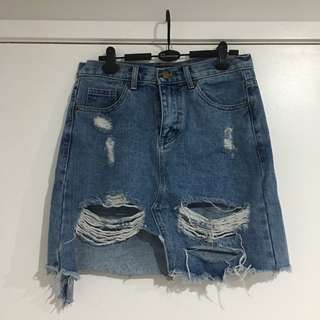 Denim skirts size 10-12