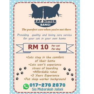 Boarding Kucing ( Cat Sitter )