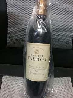 法國波爾多紅酒 talbot saint julien 1992 靚水位