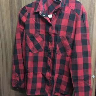 Bershka Plaid Button Down