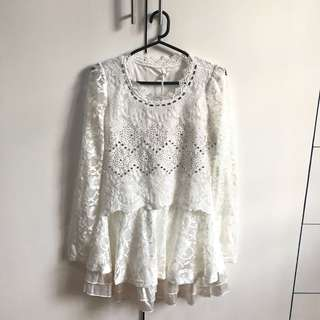 BNWT White Dress with crystal embellishments