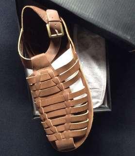 Zalora Faux leather Fisherman Sandals