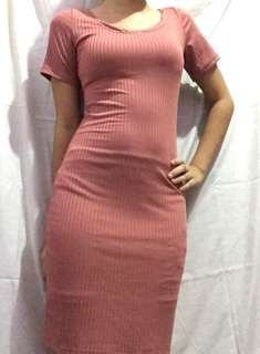 Fitted Pink Dress