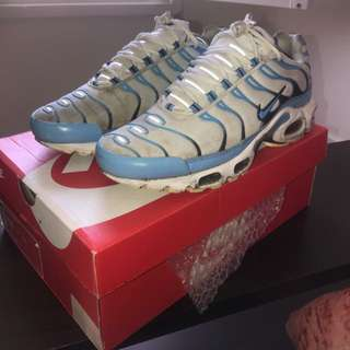 Size 10.5 White And Blue Tns