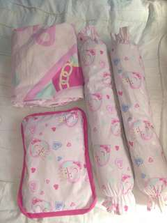 Pillow,fitted sheet, stroller comforter
