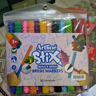 Artline Stix Build & Draw Brush Markers