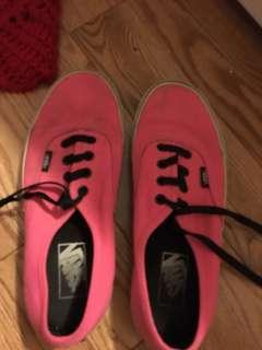 Neon pink vans women's 7.5